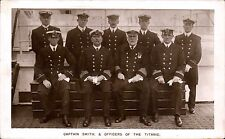 White Star SS Titanic. Captain Smith & Officers in Signal Series.
