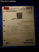 Sony Service Manual TCS 60DV Cassette Corder (#4068)
