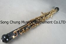 professional composite wood concert semiautomatic C key oboe,gold-plating