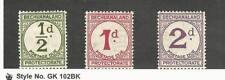 Bechuanaland, Postage Stamp, #J4-J6 Mint Hinged, 1932