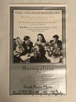 Metropolitan 1990 Original One Sheet Poster Westerly Films Archive Whit Stillman