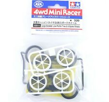 TAMIYA ACCESSORI MINI 4WD CERCHI A 6 RAZZE+GOMME LOW PRO  ART 15511