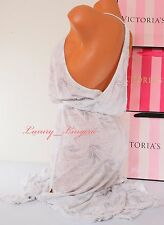 VS VICTORIA'S SECRET Cotton Racerback Cover-Up Maxi Dress XS White Pattern - NWT