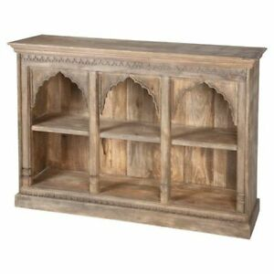 MADE TO ORDER Mehrab Indian Carved Antique Window Tall bookshelf book shelf B31