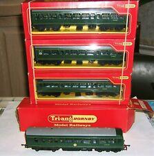 Fine TRI-ANG HORNBY Diesel Railcar 4-car DMU SET green R157,R158+2xR334 COMPLETE