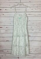 Truly Poppy Stitch Fix Women's Sz S Small White Lace Midi Summer Dress NEW TAGS