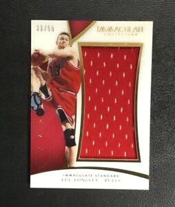 Luc Longley 2014-15 Panini Immaculate Basketball Card Chicago Bulls Champions