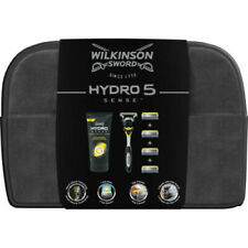 Wilkinson Sword Hydro 5 Sense Wash Bag Gift Set +Razor + 5 Blades + Shave Cream