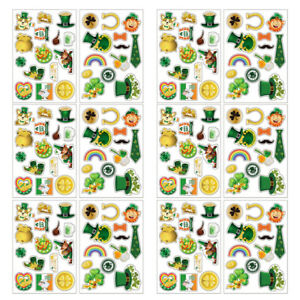 1 Set Removable Festive Decals Paper Stickers for St. Patrick's Day