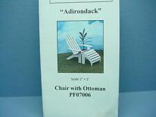 Dollhouse Miniature Adirondac Chair wi Ottoman Kit #PF06 - 1/12th Scale