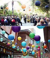 "Lots 10PC Round Chinese paper lanterns lamp 4""/8""/10""/12""/14""/16"" wedding decor"