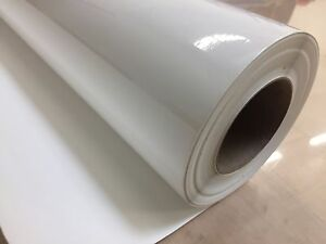 """CLEAR Transparent Cutting Sign Craft Vinyl 24"""" Adhesive Backed Roll Sheet"""