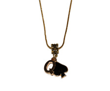 Queen Of Spades QOS Gold Euro Necklace Hotwife Slut Lifestyle Jewellery Style 1