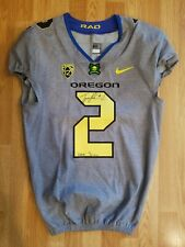Oregon Ducks Tyree Robinson Signed Game Worn Used Coach Rad Jersey