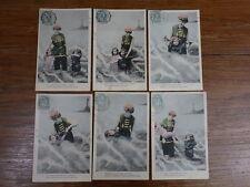 6x CPA CARTES POSTALES FANTAISIE 1904 Le Bain de Mer COMPLET Edit. E.P.