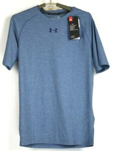 Under Armour HeatGear Mens Compression T Shirt 1296924 Blue Size Large NWT $30