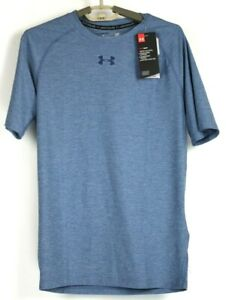 Under Armour HeatGear Mens Compression T Shirt 1296924 Blue Size Large NWT $30