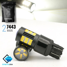 Syneticusa 7443/7444NA Projector 6000K White Reverse Backup LED Light Pair Bulbs