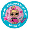 48 Personalised Party Bag Stickers LOL Sweet Bag Seals 40mm Labels