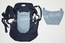 Infantino Infinity Baby Carrier 6n1 Baby Rider Convertible Navy Blue Plaid Dk154
