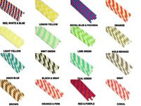 """Eco-Friendly 7.75"""" STRIPED Paper Straws Choose Color & Package Amount"""