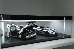 (preorder)4 Car Space Display Case and Led For Autoart/BBR/MR 1/18