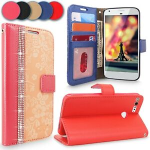 For Google Pixel XL Magnetic Flip Glitter Leather Wallet Card Holder Stand Case