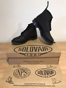 NPS SOLOVAIR Black Greasy 6 Eye Astronaut Derby Boot!SizeUK9!New!Only£149.90!