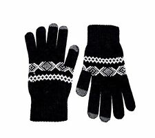 men's Glen Lossie @ ASOS Lambswool Scarf Gloves black one size (L39/8)