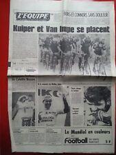 journal l'équipe 04/07/78 CYCLISME TOUR DE FRANCE 1978 LES TI RALEIGH THEVENET