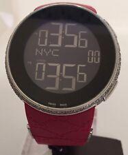 New Men's I Gucci  Full Case Diamond Ya114212 Red Digital Swiss watch