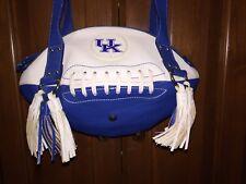 University of Kentucky Wildcats Football Shaped  Purse Blue Women's 2 Straps Zip