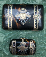 Beautiful Antique Tortoshell Aide Mèmoire Card Case, And a Matching Purse
