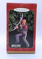 Hallmark Keepsake Ornament Star Trek  Deep Space Nine Lt Commander Worf 1999