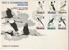 1977 Birds of Rhodesia - First Day Cover + INSERT/BROCHURE