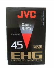BRAND 2x JVC VHSC Ec-45 EHG Compact Cassette Tapes