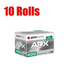 10 Rolls Agfa APX400 AgfaPhoto 35mm 135-36exp B&W  Film Fresh 08/2023