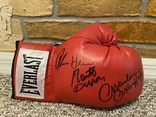 MARVELOUS MARVIN HAGLER ROBERTO DURAN THOMAS HEARNS SIGNED AUTO BOXING GLOVE