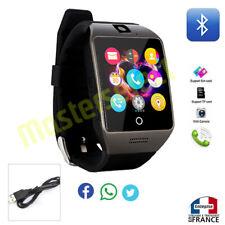 Smartwatch montre connectée avec téléphone bluetooth puce sim microsd Q18 Noir