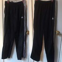Adidas track pants Boys Teen Lot 2 pairs Size L/XL  14-18 black Three Stripes