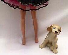 Barbie Doll Pets - Tan Golden Retriever Puppy Pup Dog Dollhouse Diorama