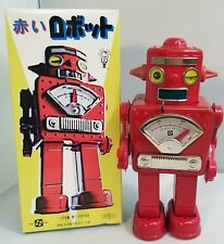 WIND-UP TIN SPARKING WINKY ROBOT, RED VERSION EXCLUSIVE # 061 OF 100