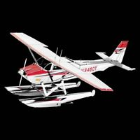 Metal Earth Cessna 182 Floatplane DIY laser cut 3D steel model kit