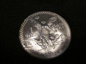 1985 Mexican Winged Liberty Libertad 1oz .999 Silver Coin BU Condition