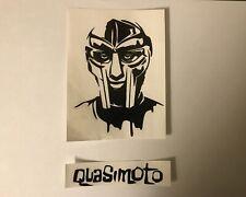 MF Doom & Quasimoto hip hop rap Vinyl Decal Sticker set