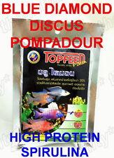 100g Discus Pompadour Blue Diamond Fish Food Gold Color Floating Mini Pellets S