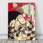 "Japanese Kabuki Art from 1800's CANVAS PRINT 36x24"" Actor ~ Kunichika #6"