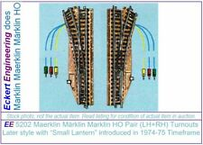"E 5202 Pair LN Märklin HO Turnout Refurbished Later Style 39"" Long Wires OBX"