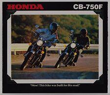 1978 HONDA CB750F Original SALES BROCHURE Vintage Motorcycle
