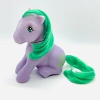 Vintage G1 My Little Pony 1983 Earth Sitting Pose Purple MLP Seashell